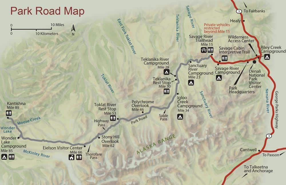 Denali National Park road map