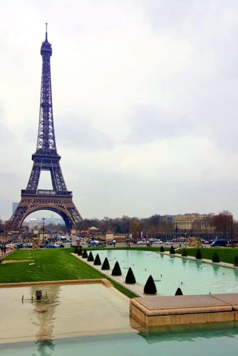View of the Eiffel in Paris