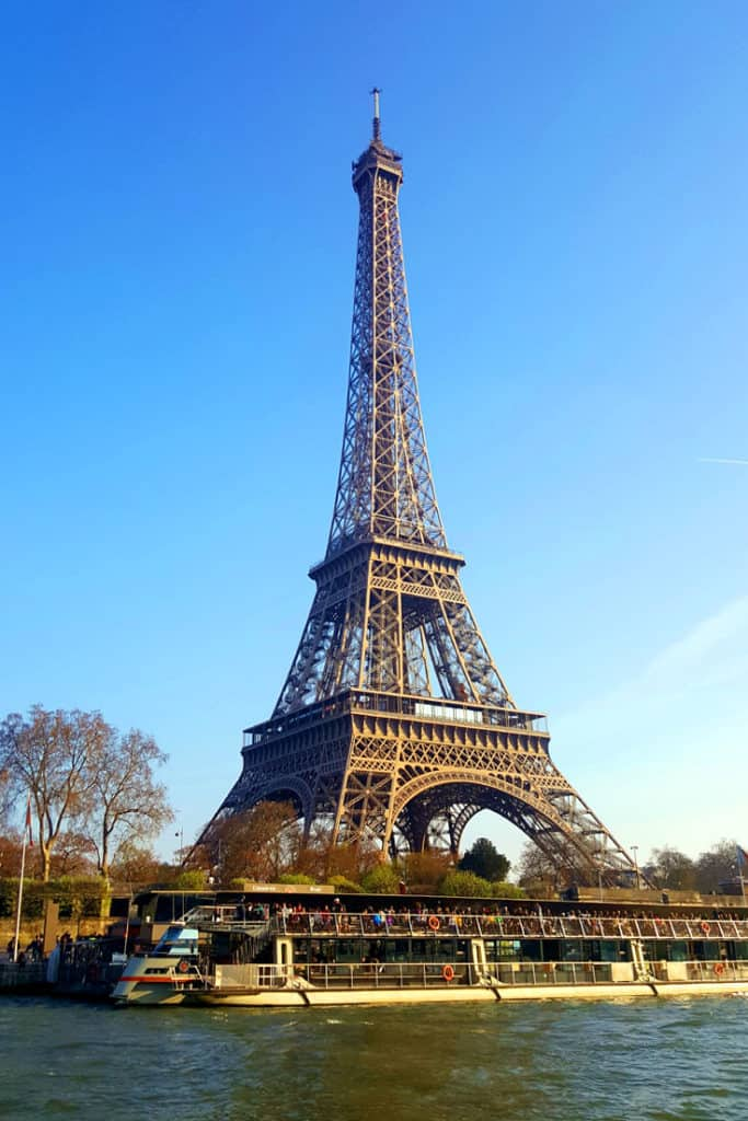 Eiffel tower from boat