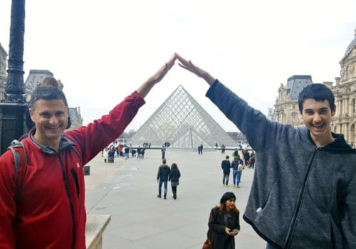 The pyramids at the Louvre