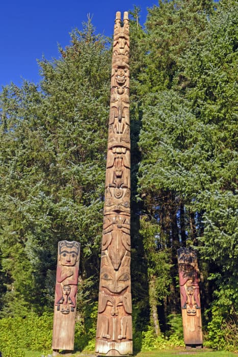 Totem Poles at Sitka National Park