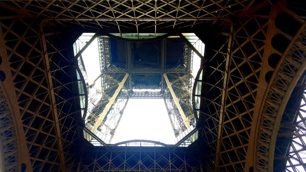 Underneath the Eiffel Tower