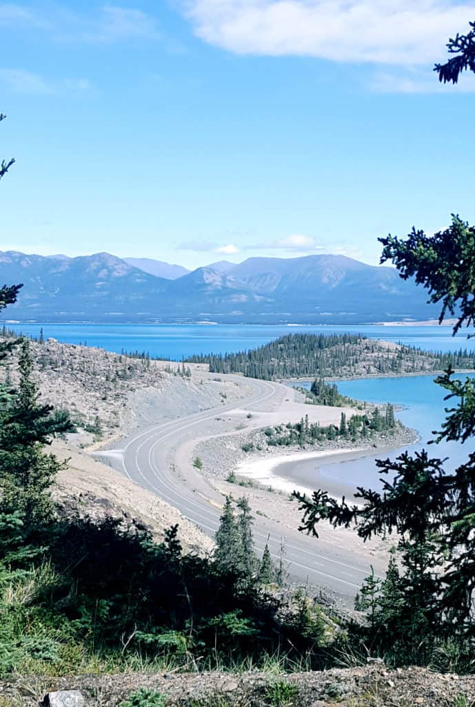 The Alaska Highway in Kluane National Park