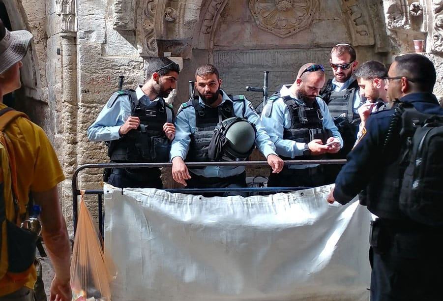 Police at the Old City of Jerusalem