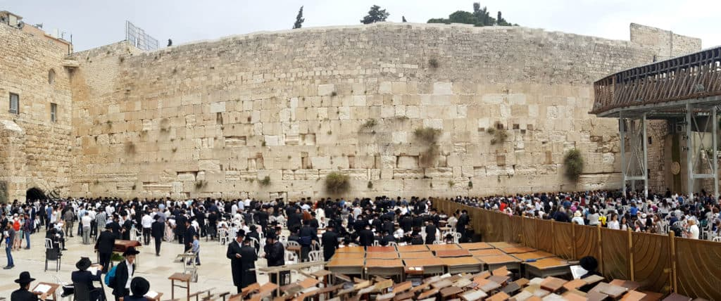 The wailing wall in Jeruslame