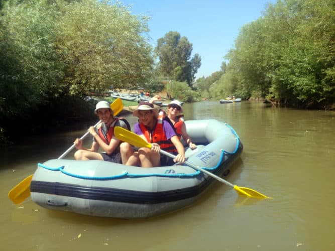 Jordan river, Israel - floating adventure