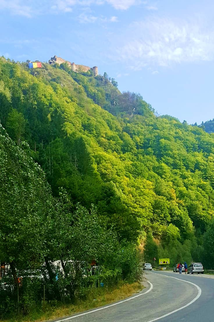 Poenari Citadel, photographed from the Transfagarasan Road