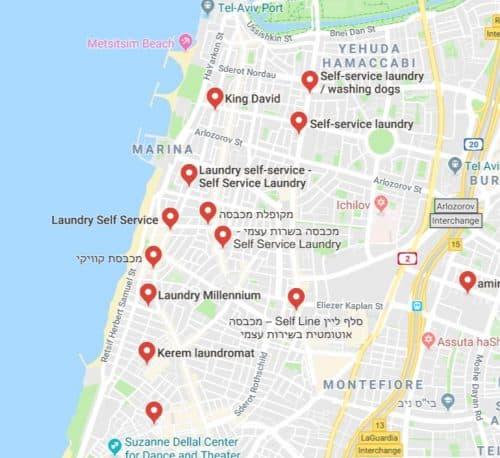 Laundromats in Tel Aviv