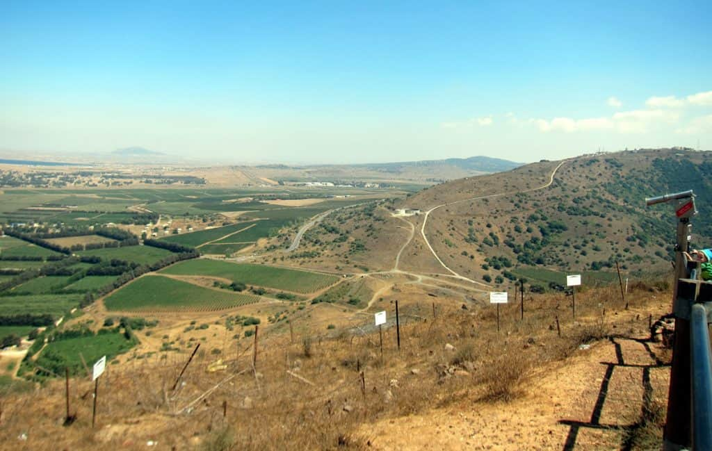 View of Syria from the Golan Heights