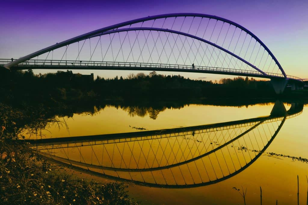 The Peter Courtney Minto Island Bridge