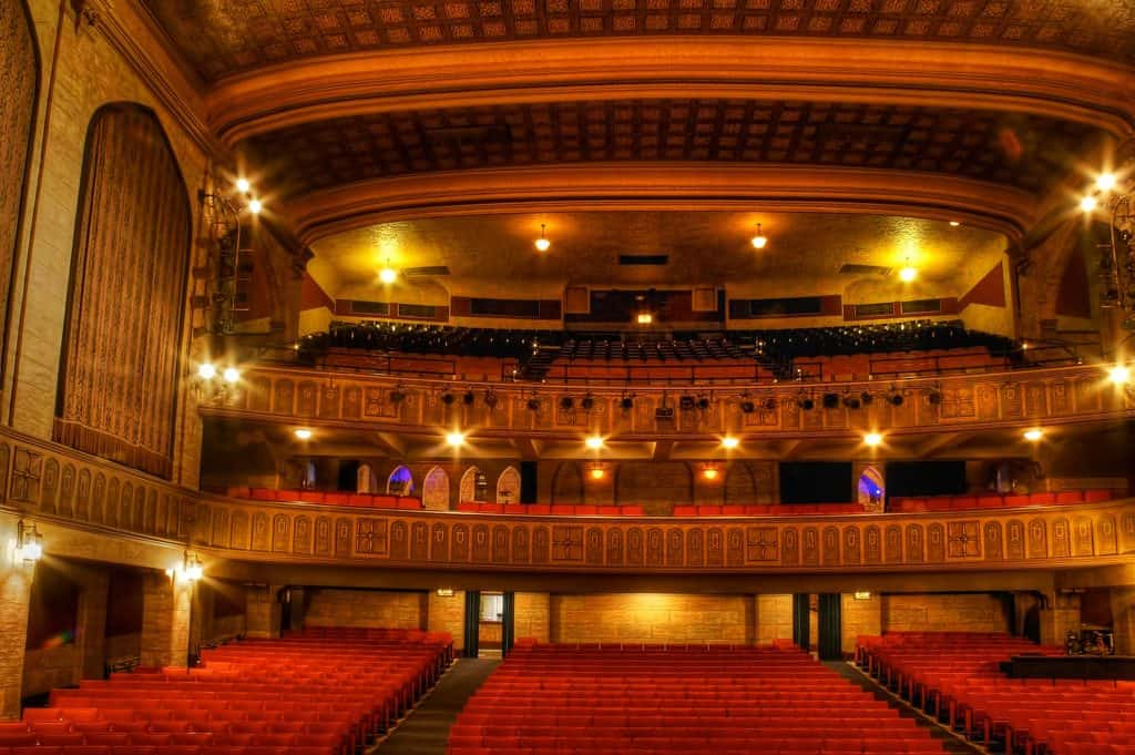 View from the stage inside Historic Elsinore Theatre