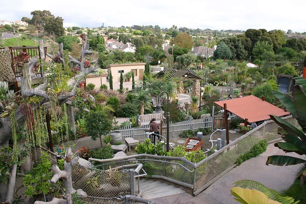 View of the San Diego Botanic Garden (formerly Quail Botanical Gardens)