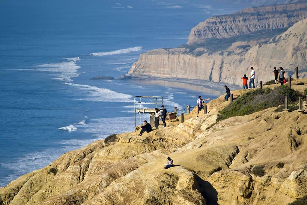 Torrey Pines cliffs next to the Glider Port