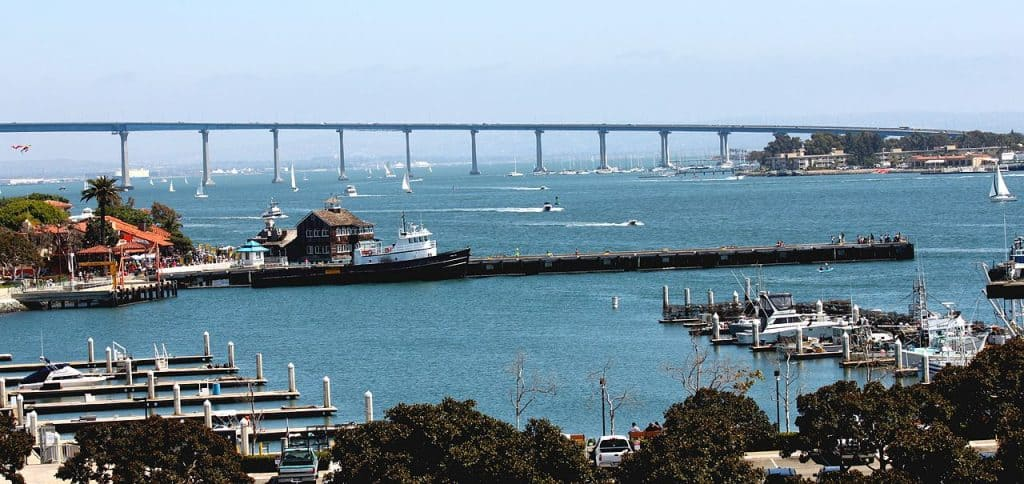 Coronado Bridge & Seaport Village, San Diego, CA.