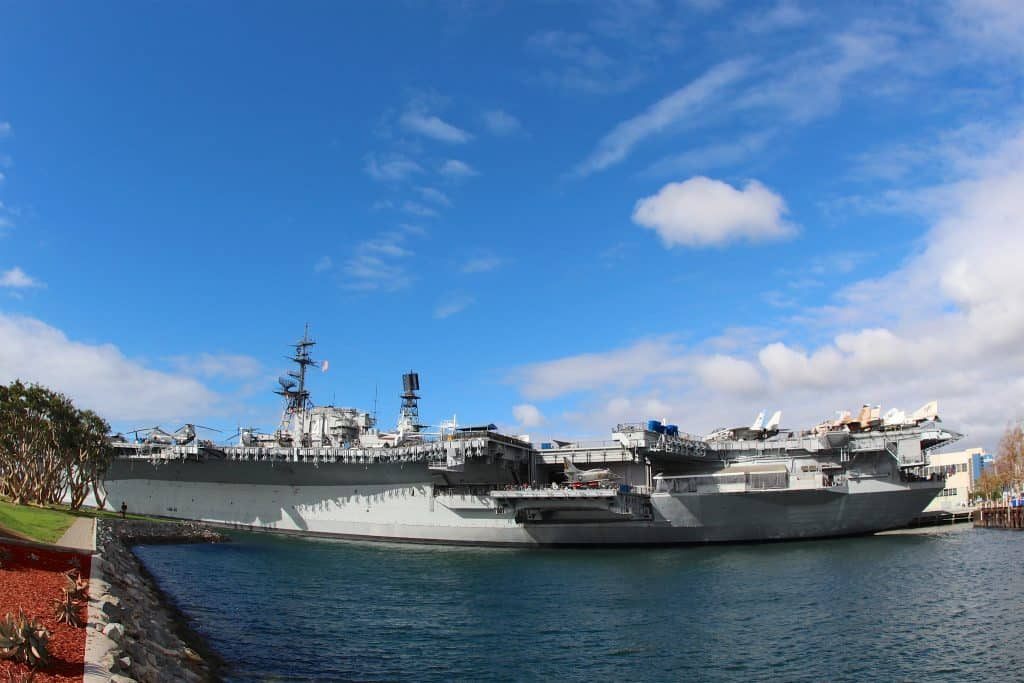View of USS Midway Museum