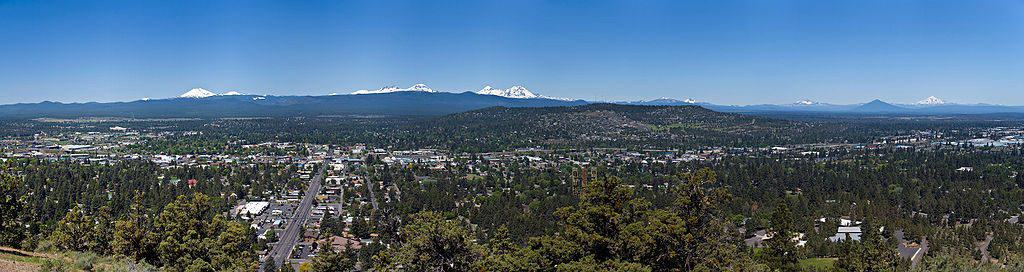 Bend, Oregon seen looking west from Pilot Butt