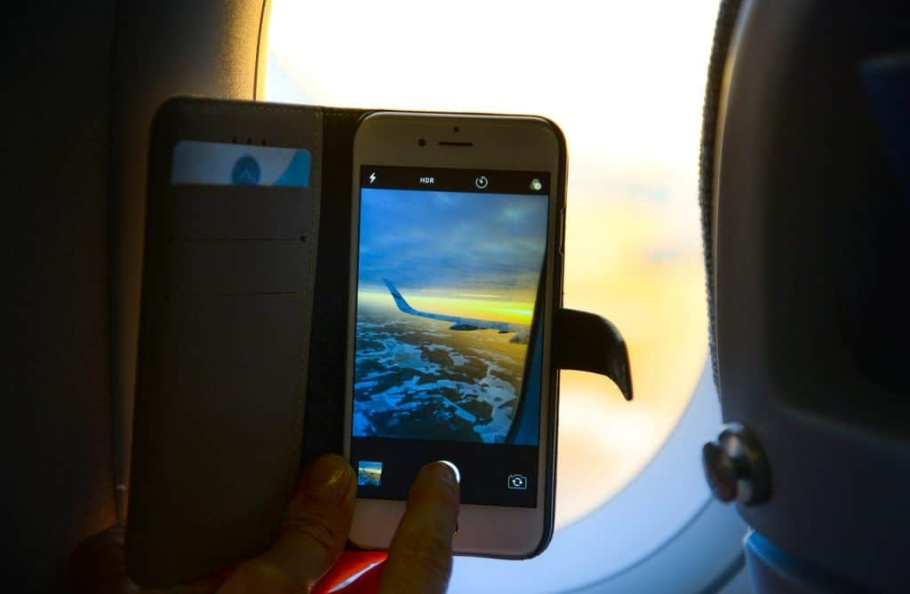 Phone in plane