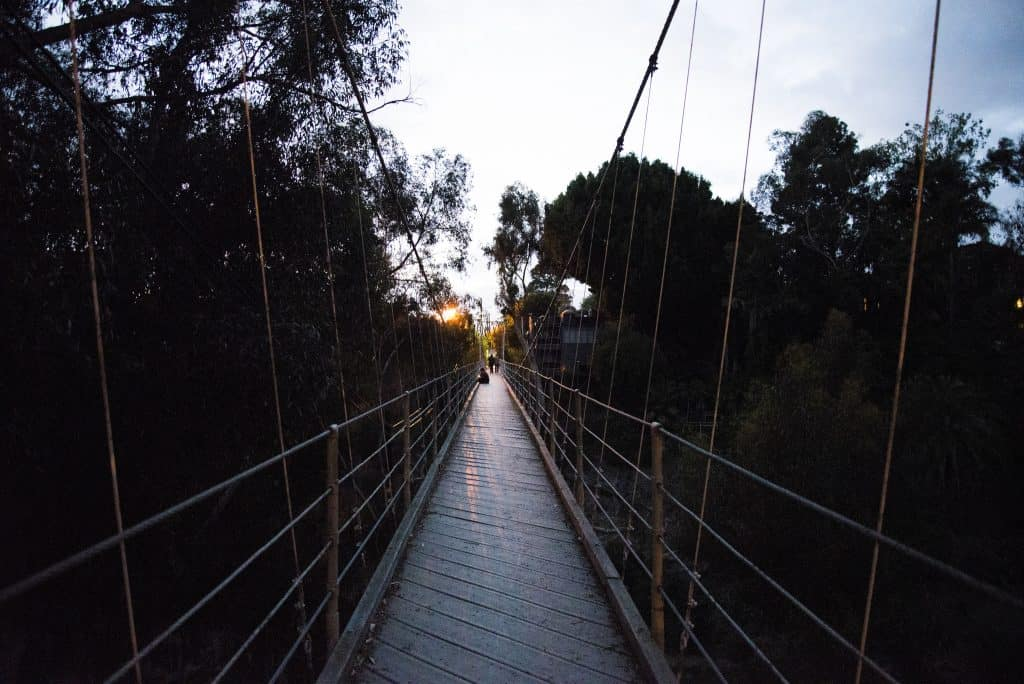 Spruce Street Suspension Bridge