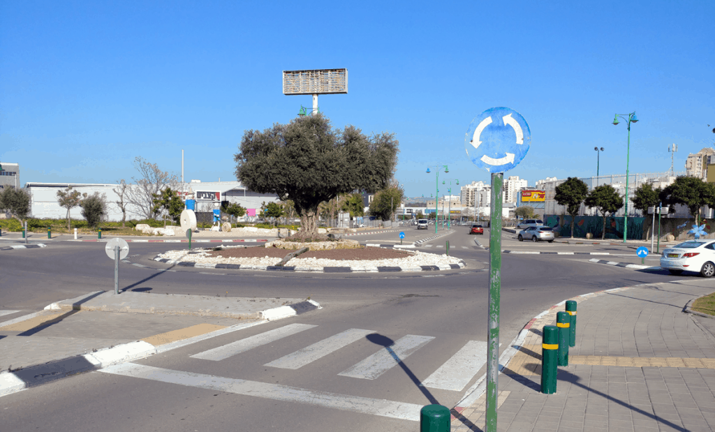 A roundabout in Israel
