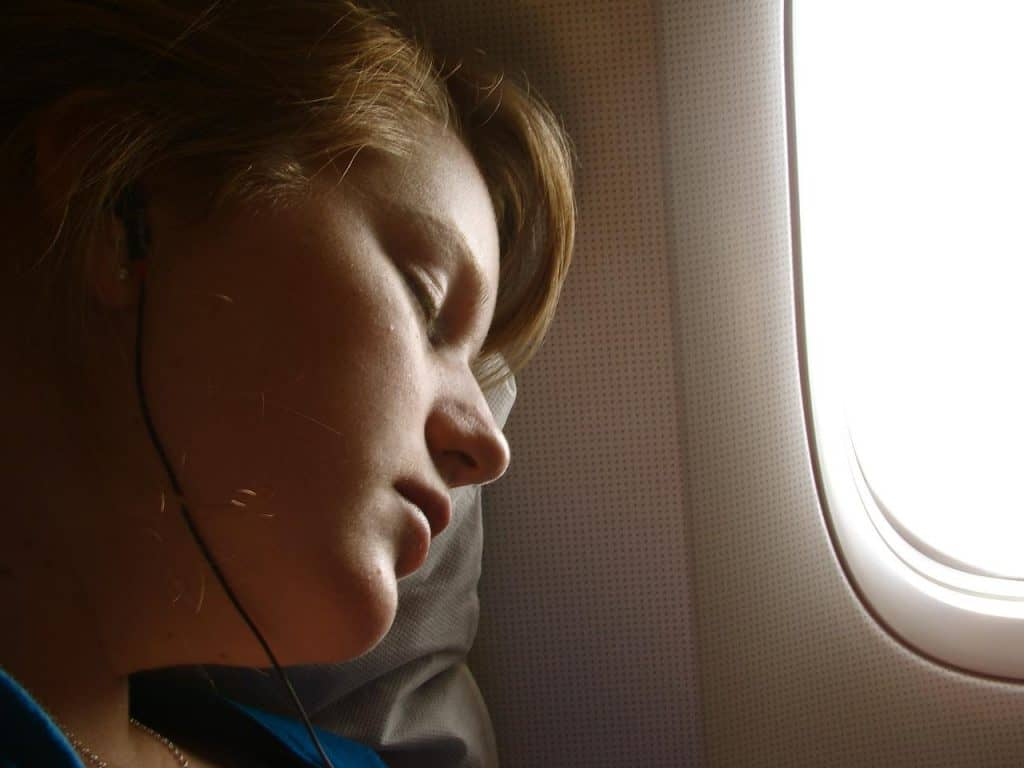Music while sleeping in flight | Photo by Andreas Eldh