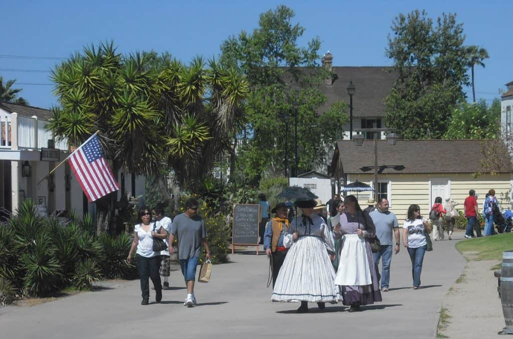 The Old Village Town in San Diego