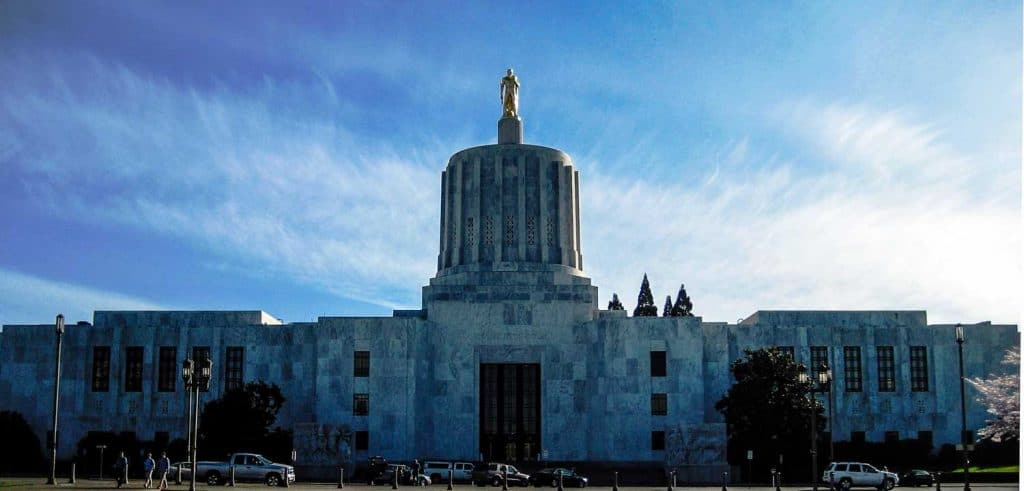 Oregon State Capital in Salem, Oregon