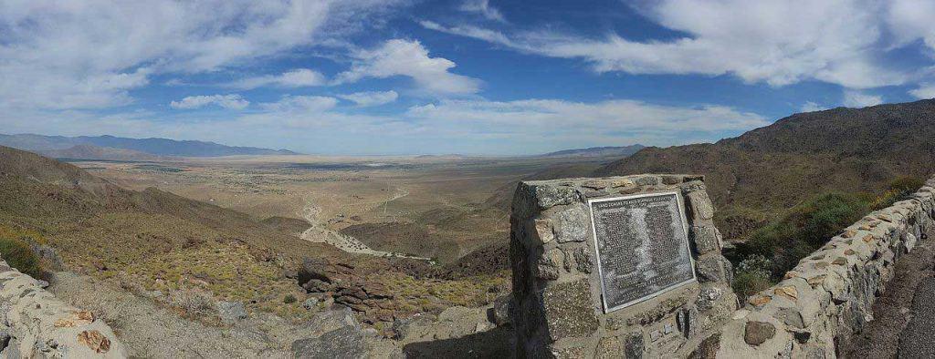 A view of Anza-Borrego Desert State Park and Borrego Springs from Montezuma-Borrego Highway (S22)