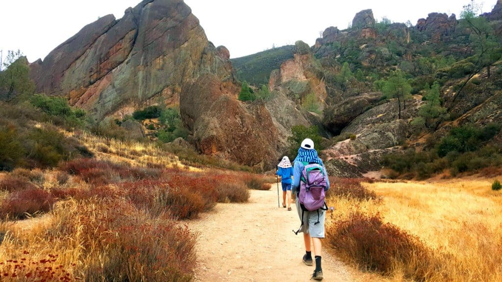 Our boys hiking in Pinnacles National Park
