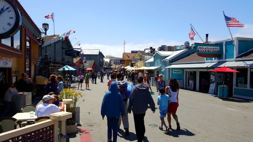 Walking in Monterey - one of the great things to do in the Monterey Bay Peninsula