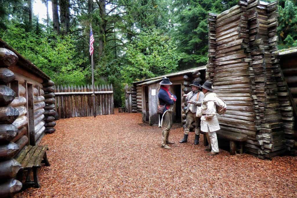 At the Fort Clatsop Exhibit