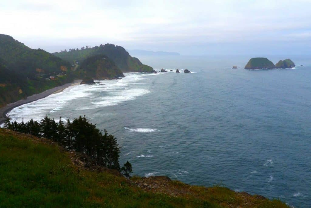 Pacific Ocean coastline south of Cape Meares State Scenic Viewpoint