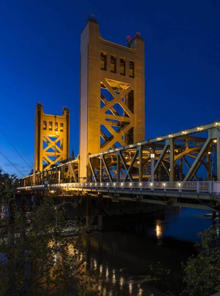 Tower Bridge across Sacramento River