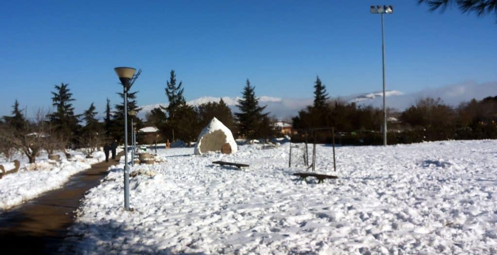Snow in the Golan