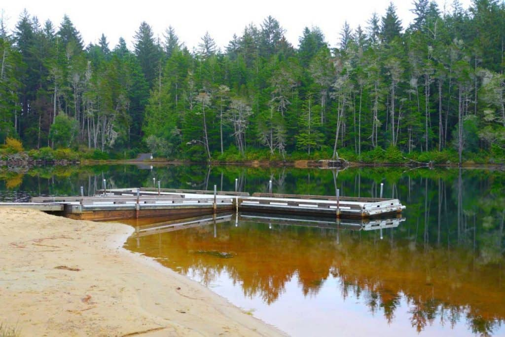 Cleawox Lake in Honeyman State Park