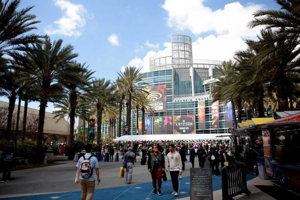 The Anaheim Convention Center during the 2018 WonderCon in Anaheim, California.