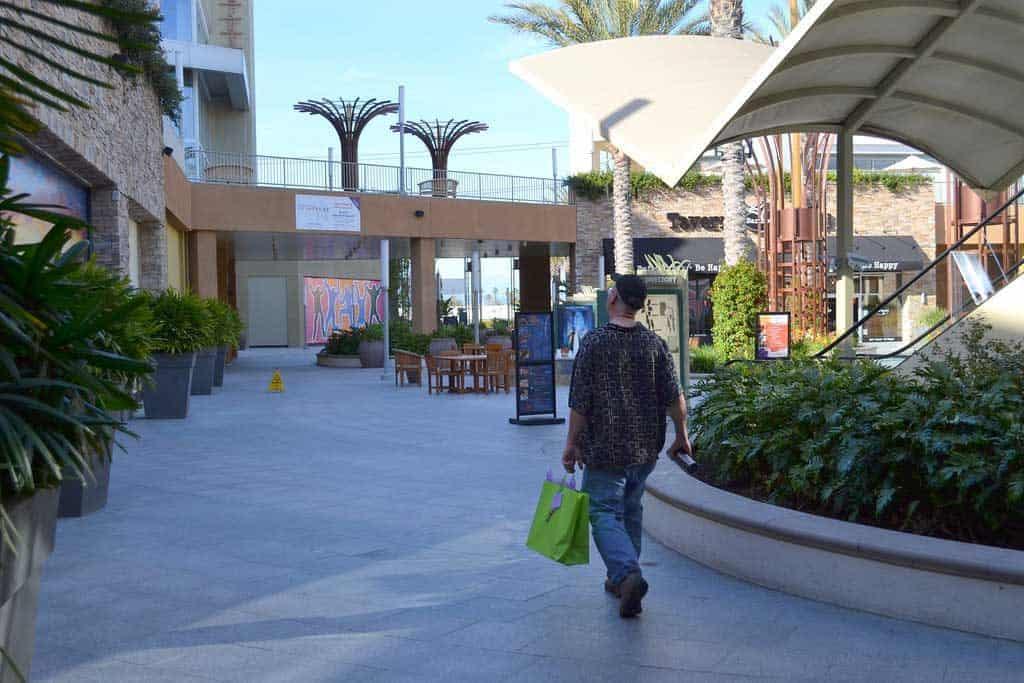 """Anaheim's """"Garden Walk"""" mall"""