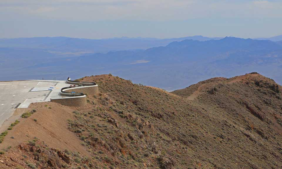 This view from the trail to Dantes Peak shows the new viewing area.
