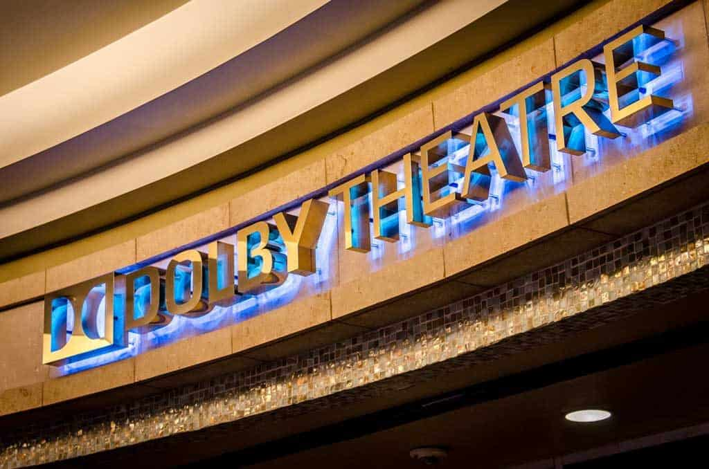 The entrance to the Dolby Theatre