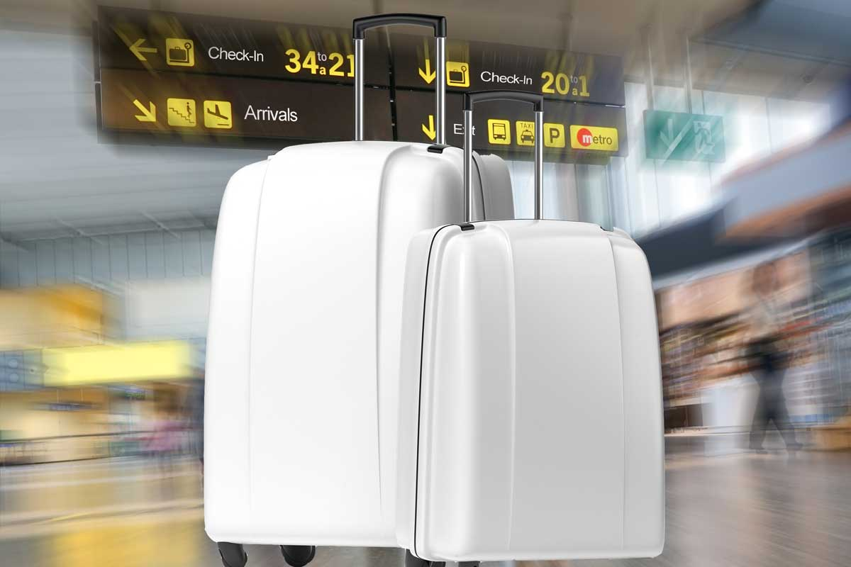 11 Gorgeous White Hard Shell Suitcases That You'll Love
