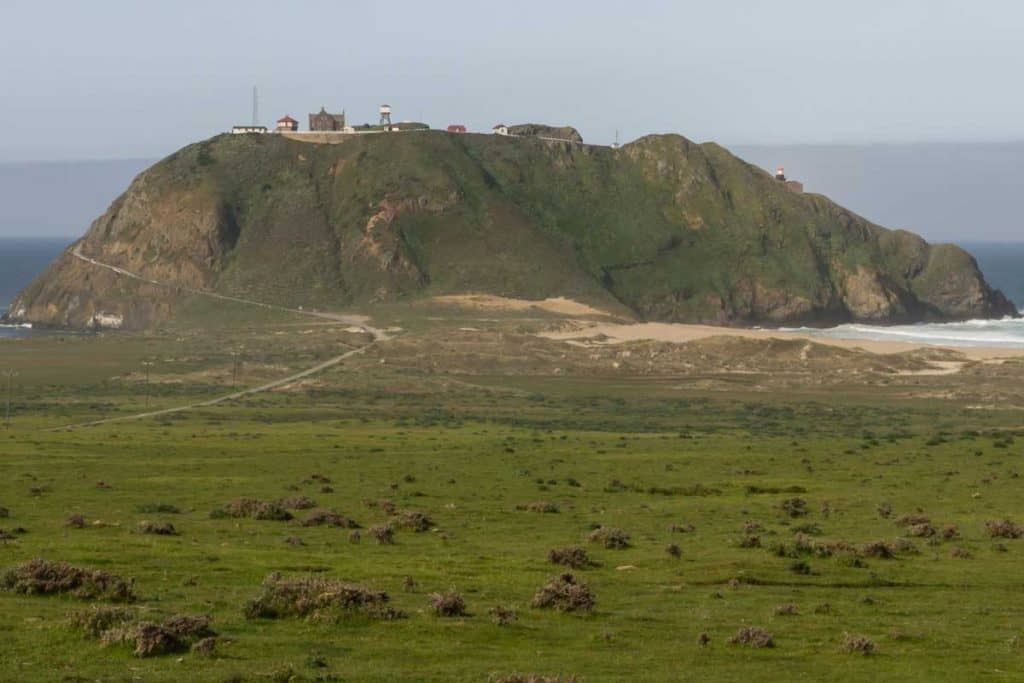 Mountain of Point Sur Light Station