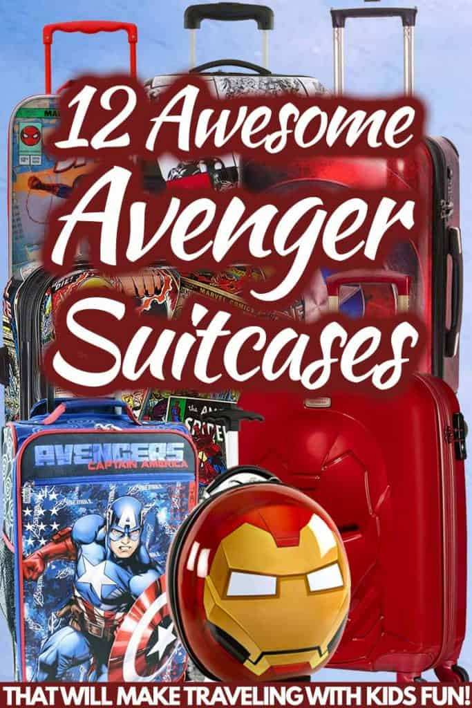12 Awesome Avengers suitcases That Will Make Traveling With Kids Fun!