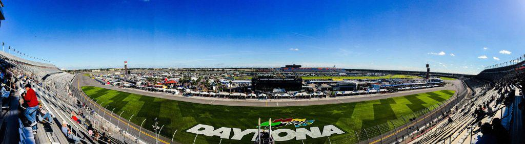 Panoramic view of Daytona Speedway