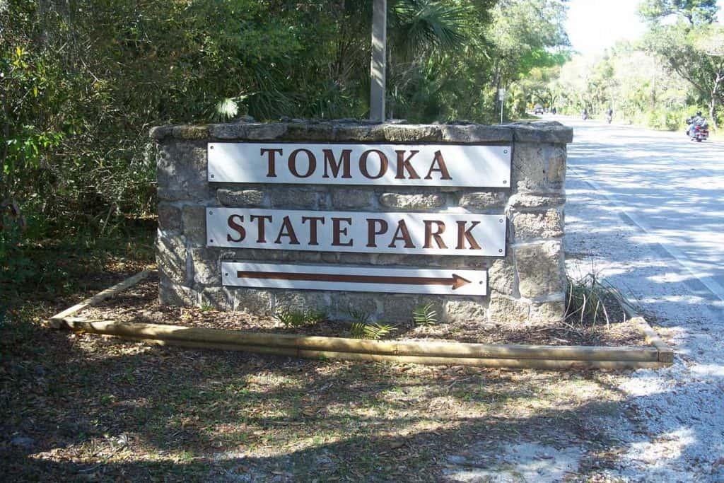 Signage of Tomoka State Park