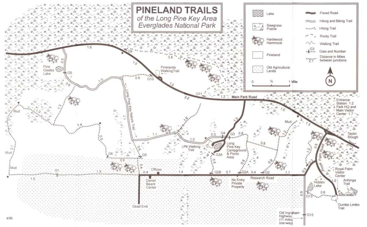 Pineland trails map