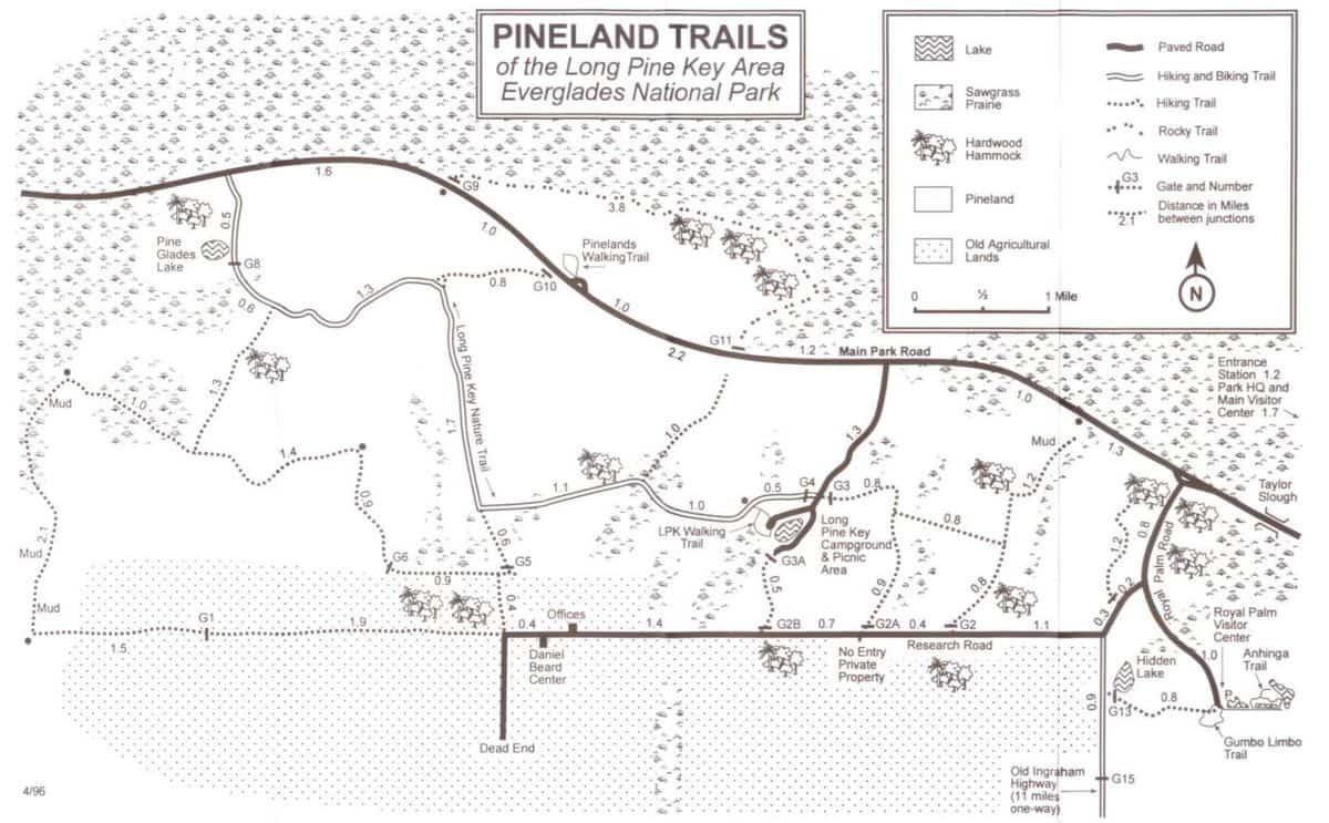 Pineland trails map