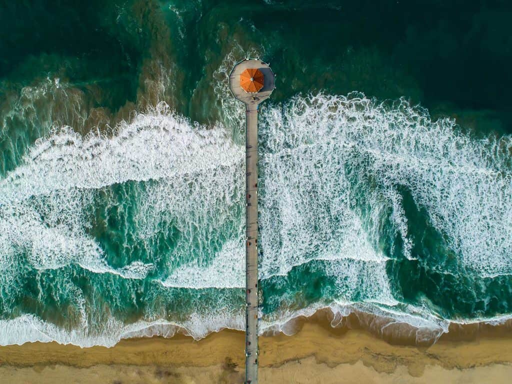 Aerial view of Manhattan Beach Pier
