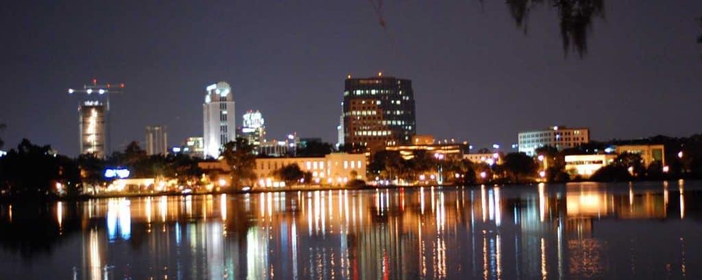 Orlando florida at night