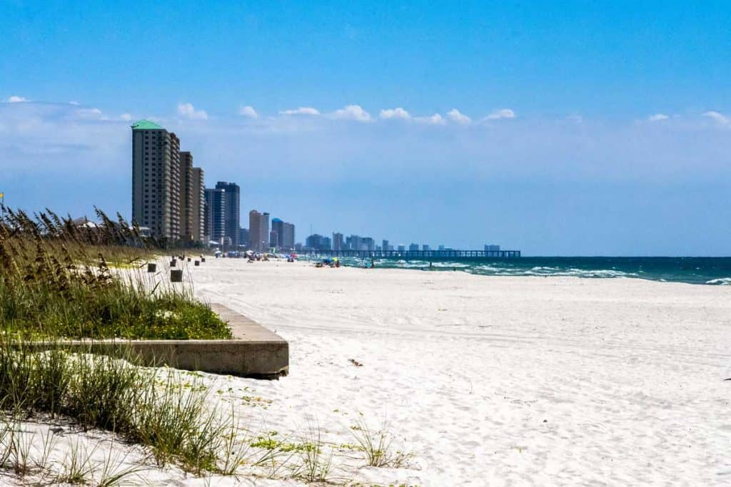 Panama City long stretch of shoreline