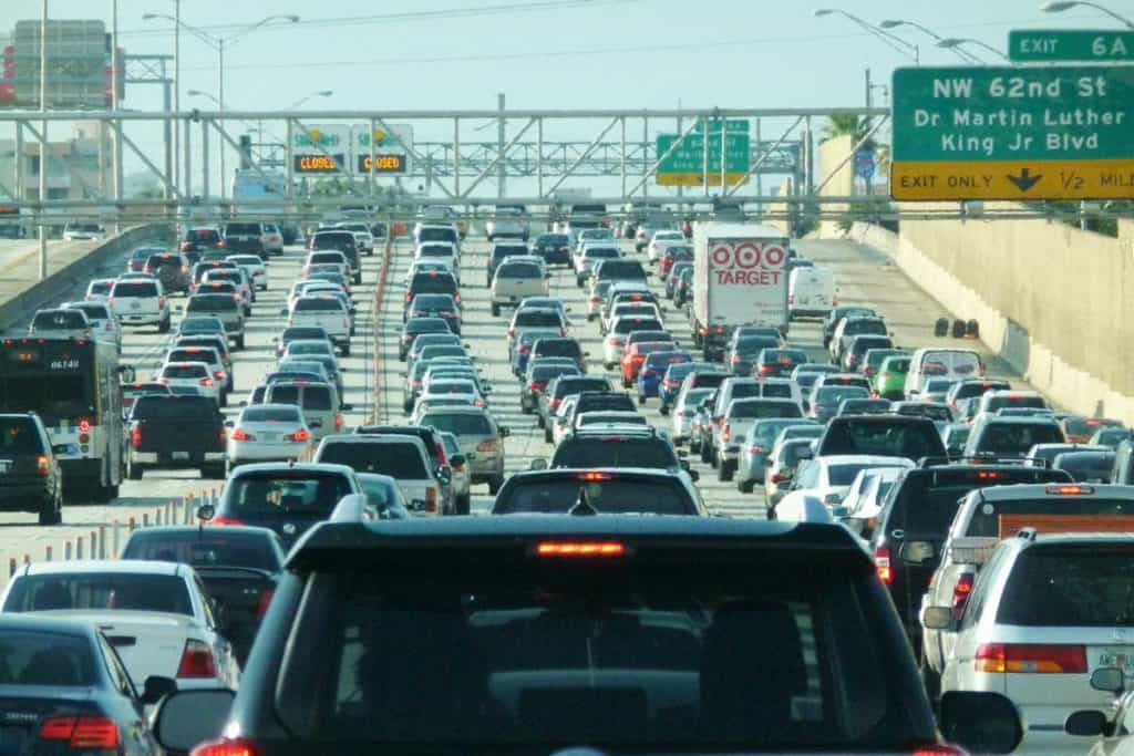 Traffic at a main highway in florida