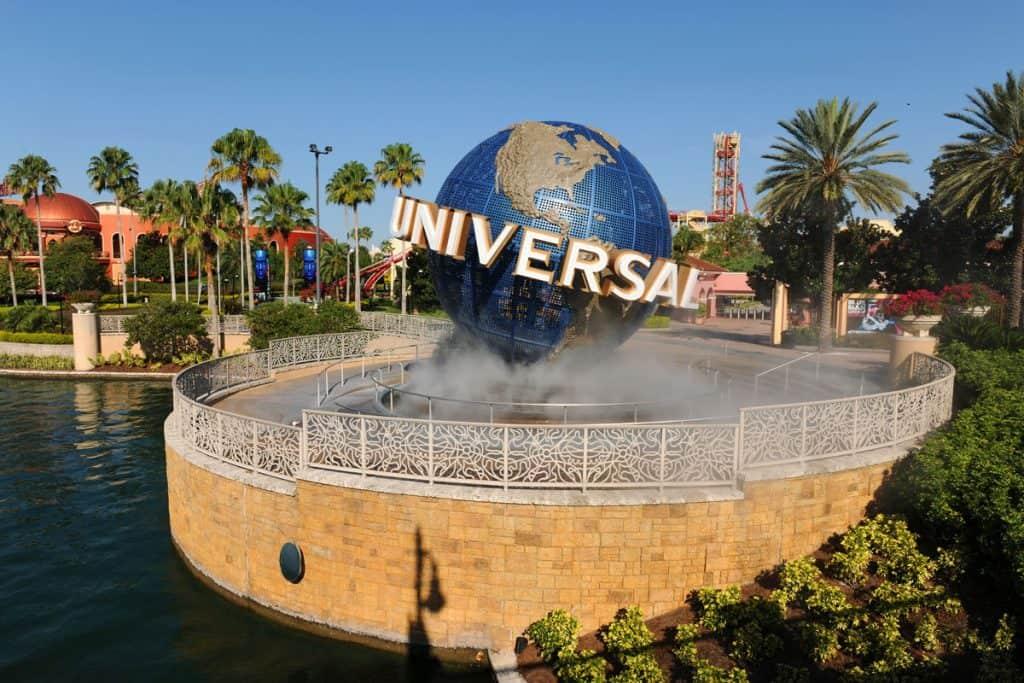 Universal Studios logo in Orlando, Florida